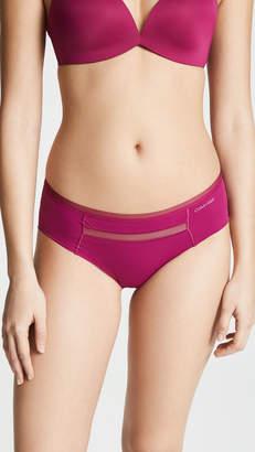 Calvin Klein Underwear Invisibles with Mesh Hipster Briefs