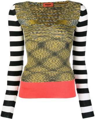 Missoni mixed pattern V-neck sweater