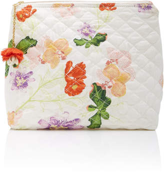 VERANDAH Waterproof Quilted Floral Satin Clutch