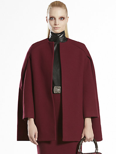 Gucci Wool Cape Coat