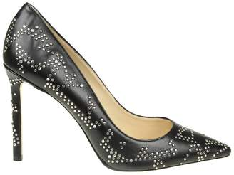 Jimmy Choo Pumps Pointed Romy Décolleté In Smooth Leather With Metal Studs