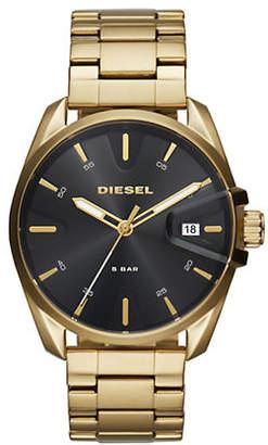 Diesel Mens Three-Hand MS9 Goldtone Watch