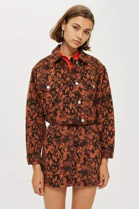 Topshop PETITE Snake Print Jacket