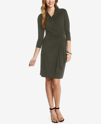 Karen Kane Three-Quarter-Sleeve Faux-Wrap Dress