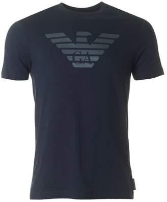 Giorgio Armani Ga Eagle Logo Crew Neck T-shirt