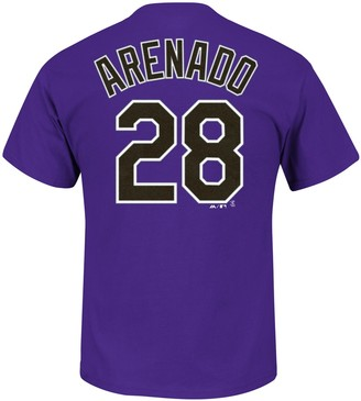 Majestic Men's Colorado Rockies Nolan Arenado Player Player Name and Number Tee