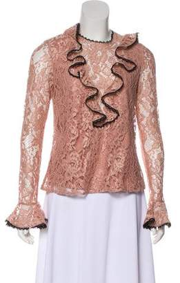 Alexis Lace Ruffle-Accented Top