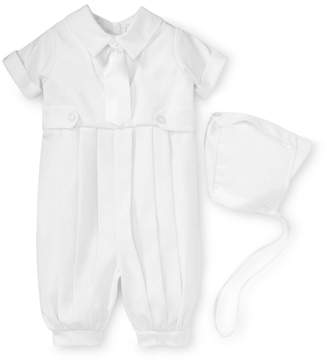 Little Things Mean a Lot Gabardine Christening Romper