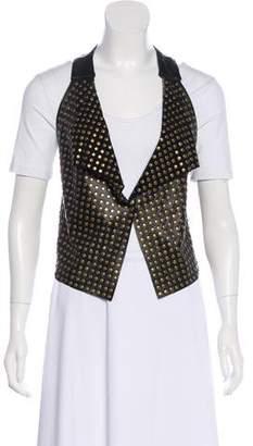 Mike & Chris Lamb Leather Studded Vest