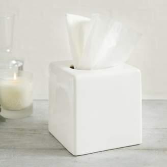 The White Company Newcombe Ceramic Tissue Box Cover