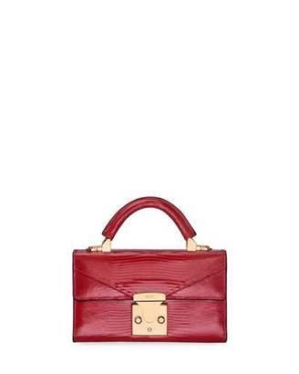 Stalvey Cerise Mini Lizard Top-Handle Bag