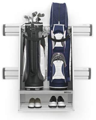 Gladiator Premier Series Golf Caddy Garage Wall Storage Wall Mounted Sports Rack