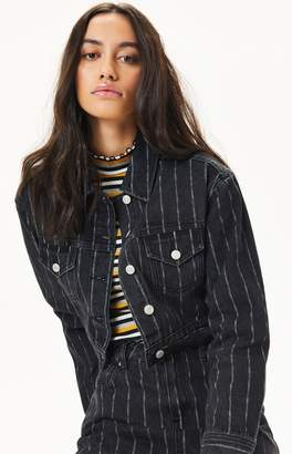 PacSun Vintage Striped Trucker Jacket