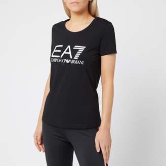 f29473fa Emporio Armani Women's Train Logo Series Short Sleeve T-Shirt