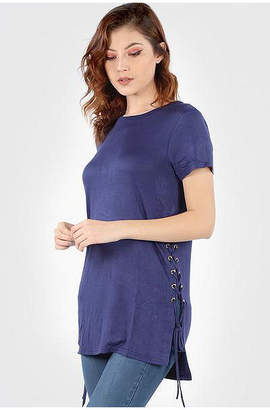Asstd National Brand Side Lace Up Tunic