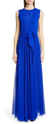 Fuzzi Belted Gathered Maxi Dress