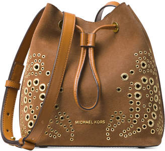Michael Kors Cary Embellished Bucket Crossbody