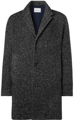Albam Mullan Herringbone Wool-Blend Coat