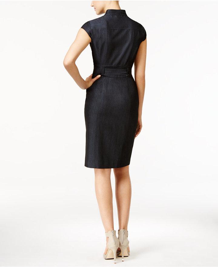 Calvin Klein Denim Belted Shirtdress 2