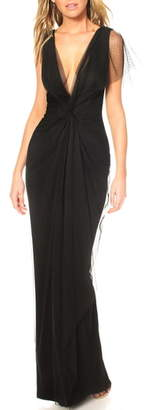 Katie May Olivia Plunge Neck Gown