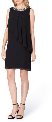 Women's Tahari Embellished Tiered Shift Dress $138 thestylecure.com