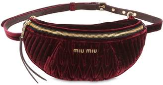 Miu Miu Quilted Velvet Belt Pack