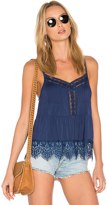 C & C California Ivy Lace Sweep Cami in Blue