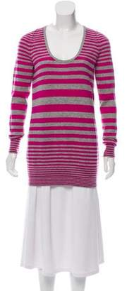 Theory Striped Cashmere Top