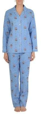 Midnight Maddie Two-Piece Popcorn-Print Pyjama Set