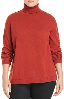 Lafayette 148 New York Plus Cashmere Turtleneck