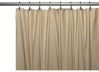 Carnation Home Fashions 3 Gauge Vinyl Shower Curtain Liner w/ Weighted Magnets and Metal Grommets in Linen