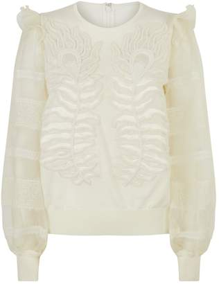 Andrew Gn Knitted Balloon Sleeve Sweater