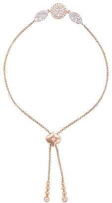 Sara Weinstock 18kt rose gold Reverie Bolo round marquis diamond bracelet