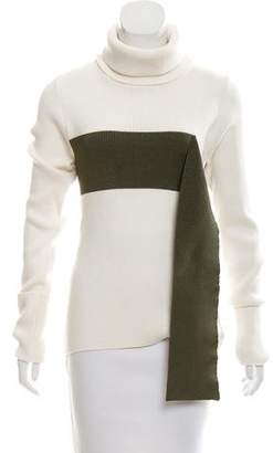 Monse Turtleneck Two-Tone Sweater w/ Tags