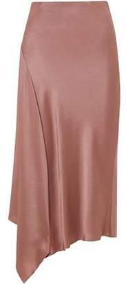 Brunello Cucinelli Asymmetric Satin Midi Skirt