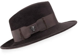 Philip Treacy Velour Raider Trilby Hat