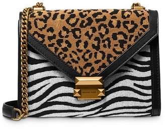 MICHAEL Michael Kors Whitney Large Animal-Print Convertible Shoulder Bag