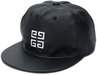 Givenchy embroidered logo leather cap