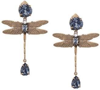 Tory Burch Dragonfly Clip-On Earrings
