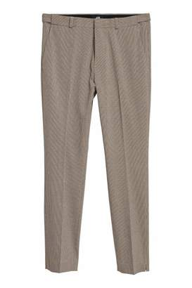 H&M Suit Pants Skinny fit - Black/houndstooth - Men