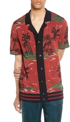Scotch & Soda Short Sleeve Tropical Pattern Cardigan