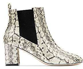 Cole Haan Women's Nitasha Python-Embossed Leather Ankle Boots