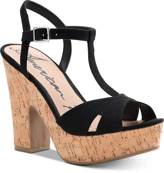 ec911e021 American Rag Jamie T-Strap Platform Dress Sandals