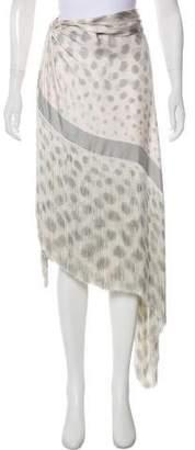 Giorgio Armani Asymmetrical Fringe-Trimmed Skirt