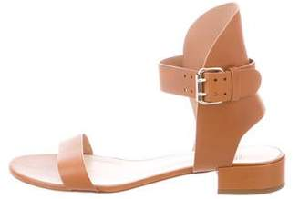 Francesco Russo Leather Ankle-Strap Sandals