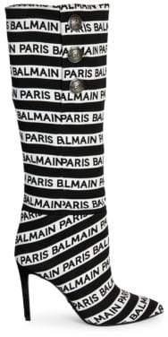 Balmain Jane Logo Knee High Boots