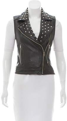 Torn By Ronny Kobo Leather Embellished Vest w/ Tags