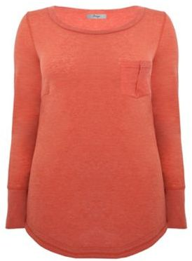 Tan Long Sleeve Oversize Tee