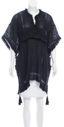 Isabel Marant Fringe Trimmed Open Knit Tunic