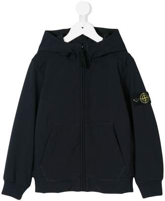 Stone Island Junior zipped hooded jacket